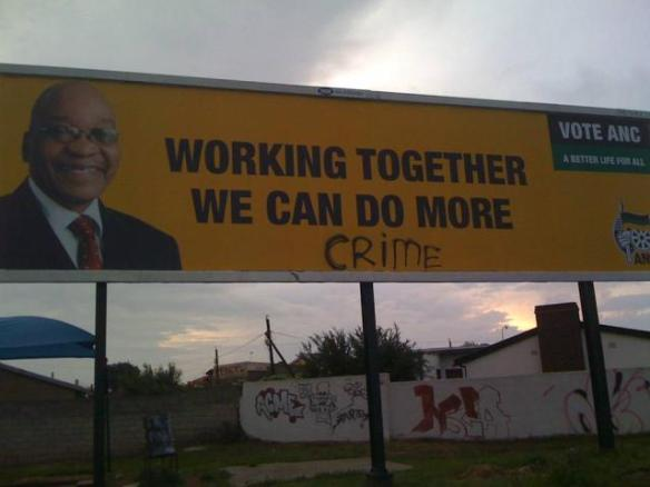 Billboard Sign in Soweto