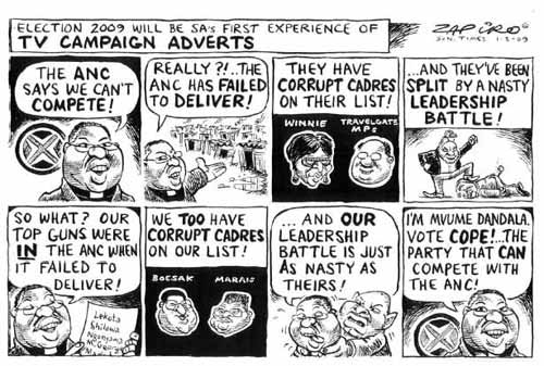 by Zapiro - The Times, 01 March 2009
